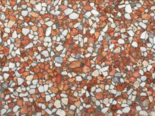 موزاییک واش بتن سفید قرمز